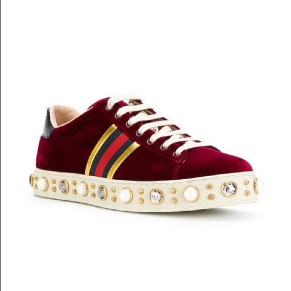Gucci Shoes | Preown Gucci Ace Studded